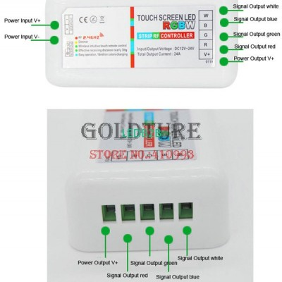 2.4G colorful touch controller MI