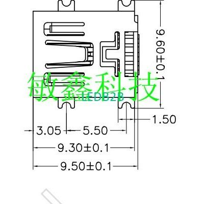 5P Micro Mini USB Connectors jack