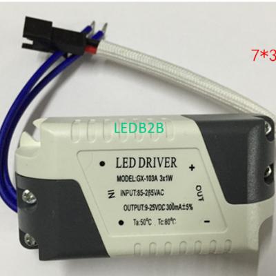 LED driver  AC 85- 265V 300mA 3*1