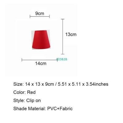 DIA 14cm/5.51inch Red Chandelier