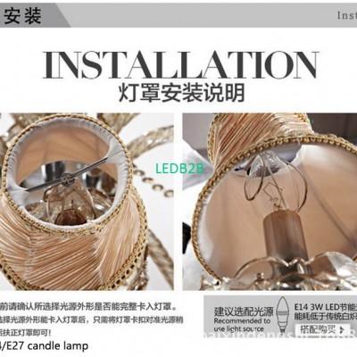20 pcs E27 E14 handmade chandelie