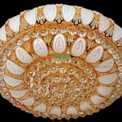 Gold crystal lamp. Circular absor