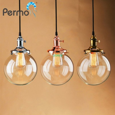 PERMO Glass Globe Shape Pendant L