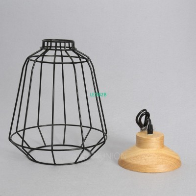 Vintage Iron Wire Bulb Cage Lamps