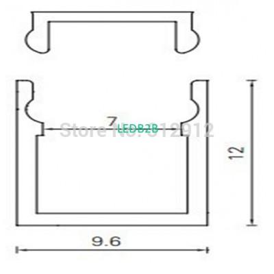 RA-1012;1M long LED aluminum prof