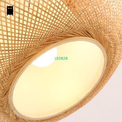 Round Hand Knitted Bamboo Rattan