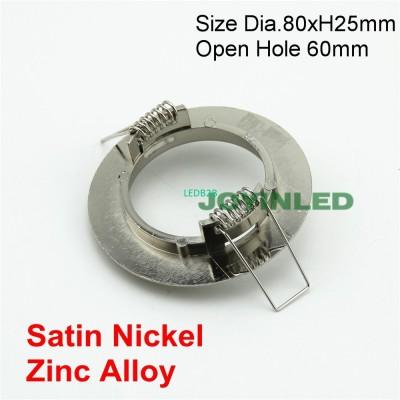 10pcs 60mm cut hole satin nickel