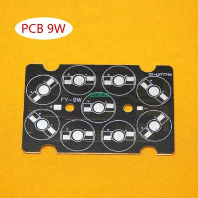 9W LED PCB , high power LED squar