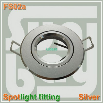 Round fitting Silver Gimbal Fixtu