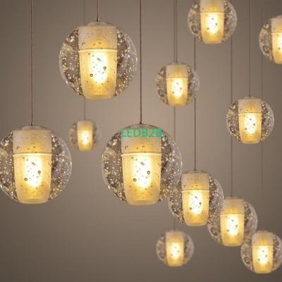 LED crystal chandelier chain ligh