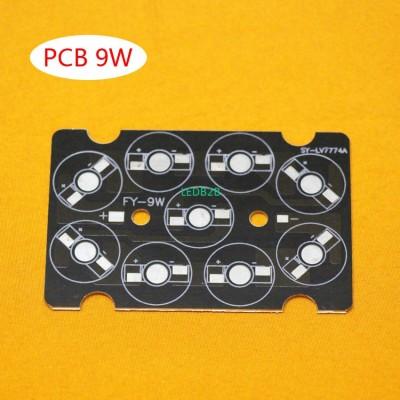 50pcs/lot, 9W LED PCB , high powe