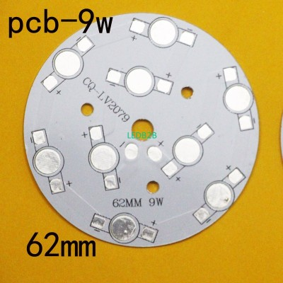20piece/lot ,9W LED PCB 62mm for