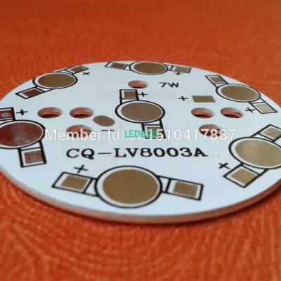 7W LED PCB 49mm for 7pcs LEDs, al