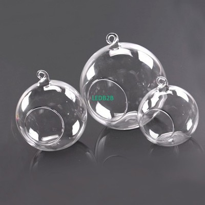 Clear Glass Round Hanging Candle