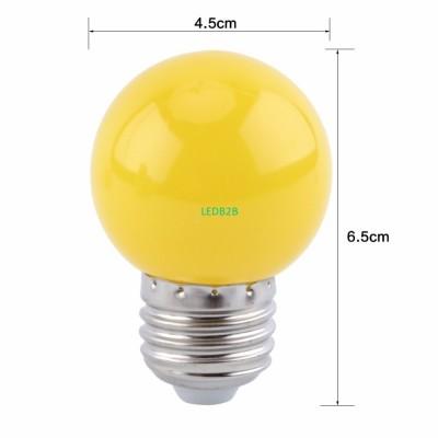 1W E27 Multicolor Round LED Ball