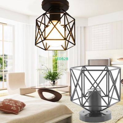 Retro Iron Lampshade Pendant Lamp
