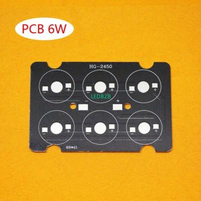 6W LED PCB , high power LED squar