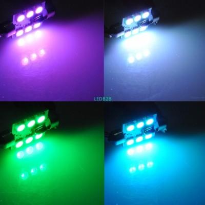 AutoEC 1set x Multicolor C5W Inte