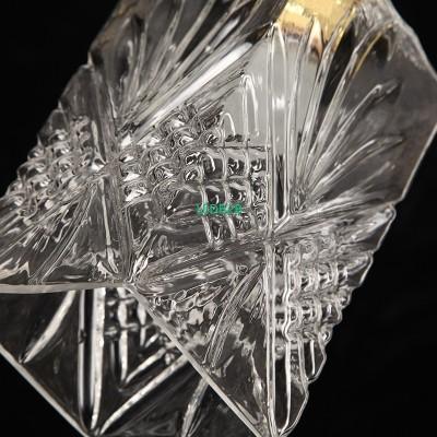 Transparent glass ball chandelier