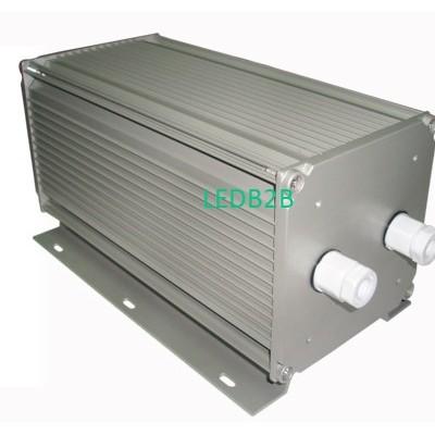 Gear box for floodlight fixture