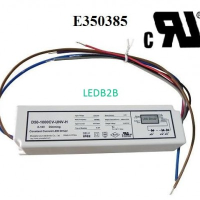 50W 0-10V dimmable LED driver