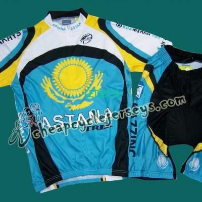 08 Astana cycling Jersey and Shor