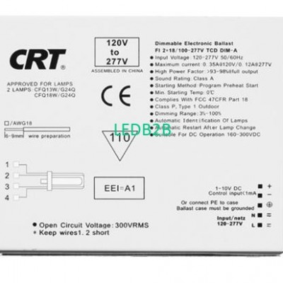 Compact Dimmable Electronic Balla