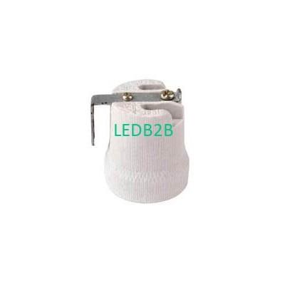 E27 porcelain lampholder with bra