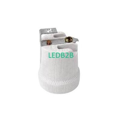 E27 Ceramic lamp base with bracke