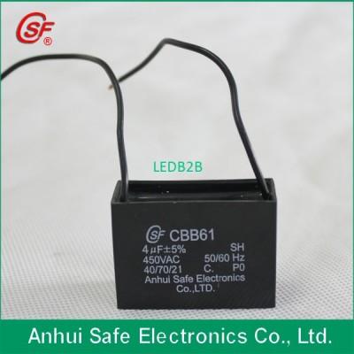 CBB61 450V 4uF electric fan capac