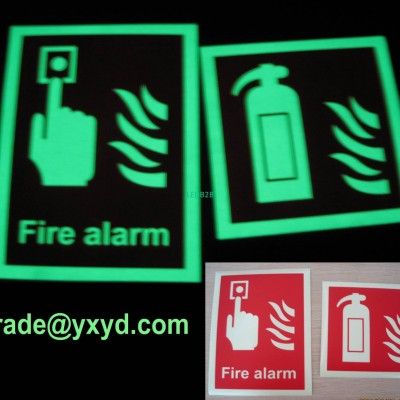 luminescent safety sign exit sign