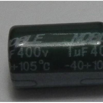 400v1uF 6X12 aluminum electrolyti