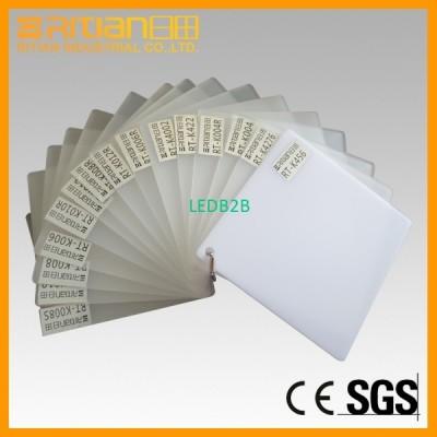 Plastic light diffuser plate LED