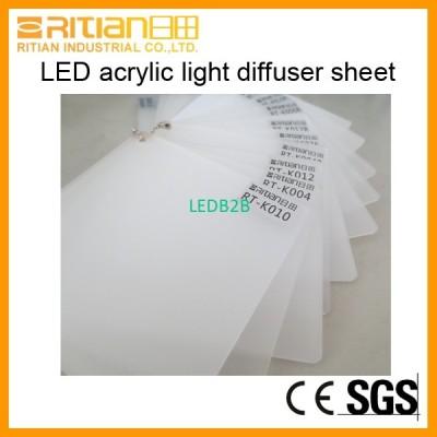 PMMA light diffuser sheet diffusi