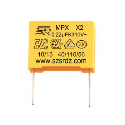 0.22uF 275VAC MPX X2 polypropylen