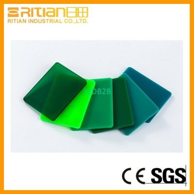 Green PMMA sheet colored cast acr