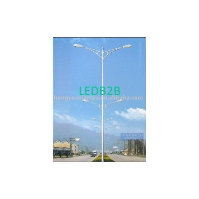 13m double arms steel pole