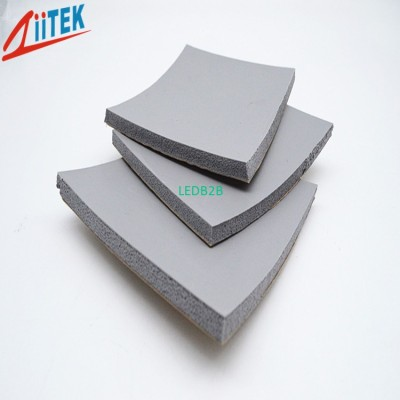 Silicone foam materials for LED p
