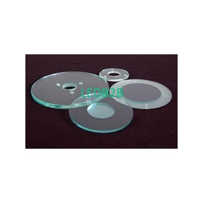 Round tempered glass for lamps