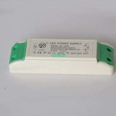 IP20 30w led power driver 900ma/1