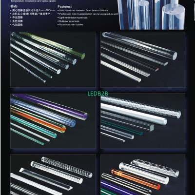 PMMA solid rod products
