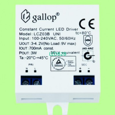 700mA  3-4.2V  3W  Constant  Curr