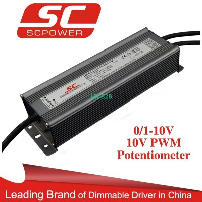 200W C.C. 0-10V dimmable led powe