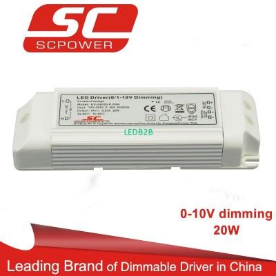 20W 24V 0-10V dimming led driver