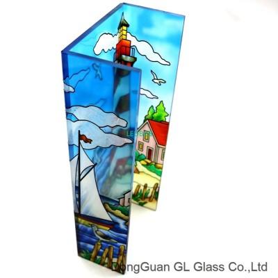 hot sale adhesive lamp shade glas