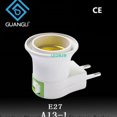 E27 EU plug Adapter socket Conver
