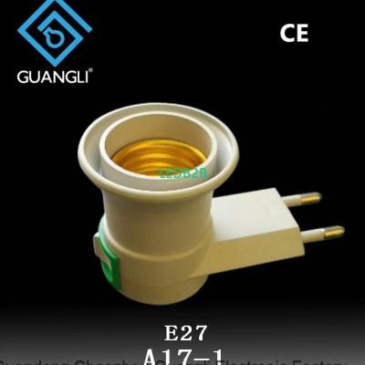 E27 round plug plastic switch nig