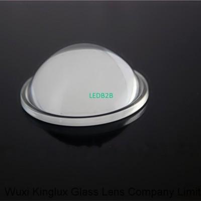 44mm led optical glass convex len