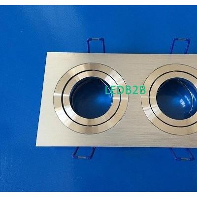 Recessed mr16gu10 aluminum double