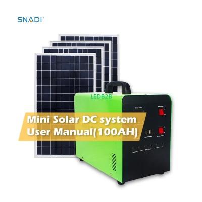 100W Portable Solar Power Bank En